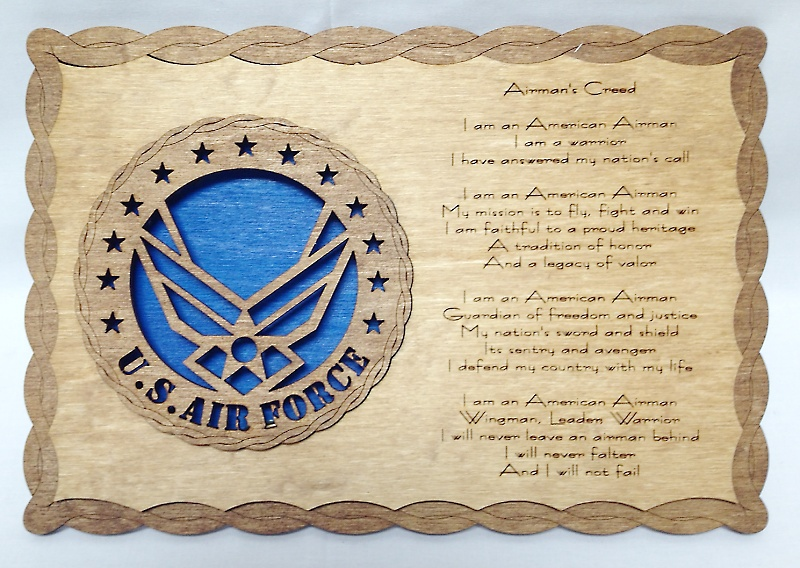 Air force wings airmans creed af wings airmans creed bb air force wings airmans creed larger image altavistaventures Images