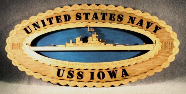 USS Iowa Crest Wall Tribute [WT USS Iowa Crest] - $34 95 : Custom
