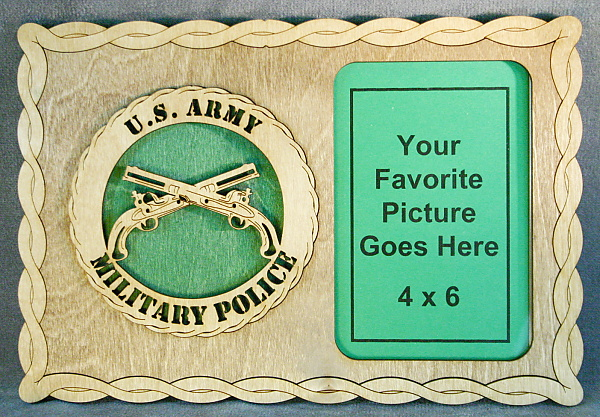 Military Police Picture Frame [Pic4x6P Army MP GN] - $24.95 : Custom ...