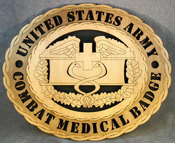 Combat Medic Badge Wall Tribute Wt Army Combat Medic Badge Bk
