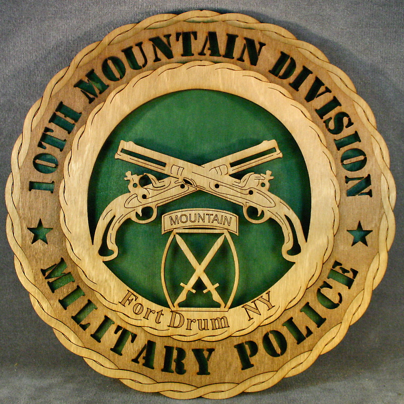 MP Fort Drum Wall Tribute [WT MP-Fort Drum GN] - $34 95